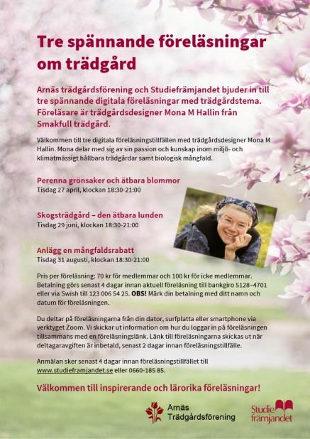 Affisch digitala föreläsningar med Mona M Hallin